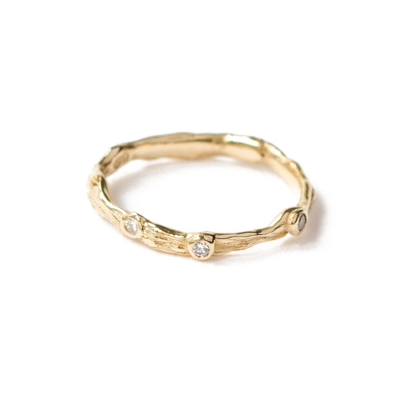 9ct yellow gold band with diamonds by LaParra Jewels - product images