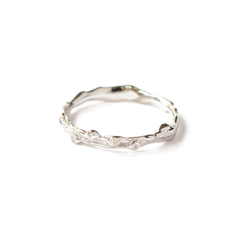 9ct white gold band with diamonds by LaParra Jewels - product images