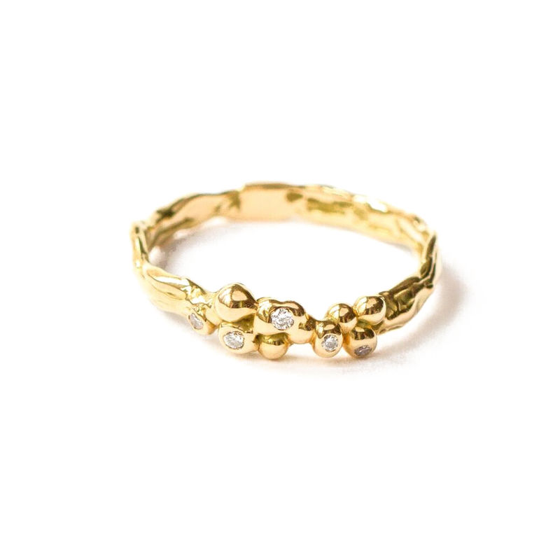 18ct yellow gold band with diamonds by LaParra Jewels - product images  of