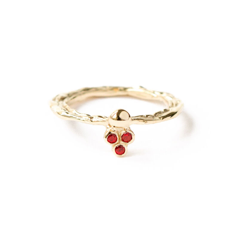 9ct yellow gold band with rubies by LaParra Jewels - product images