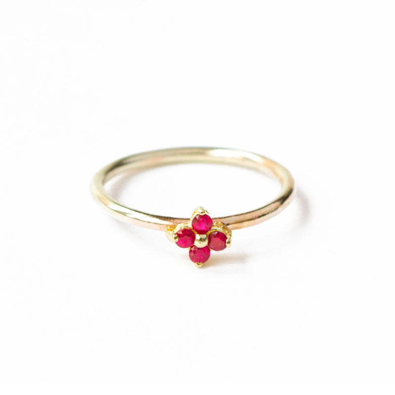 18ct yellow gold band with rubies by LaParra Jewels - product images