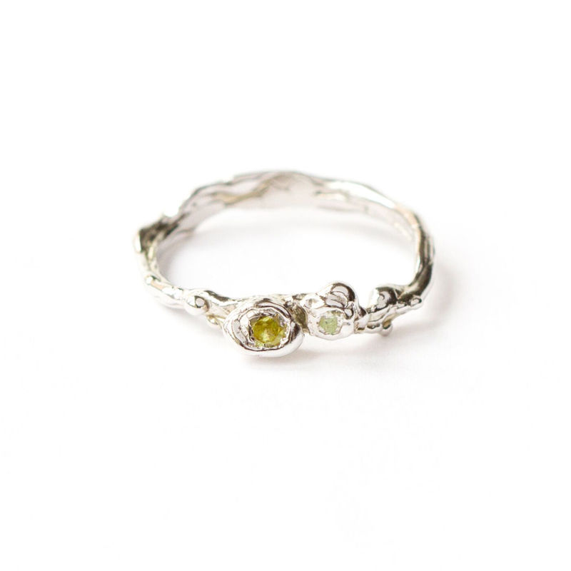9ct white gold band with green sapphires by LaParra Jewels - product images