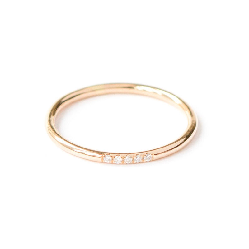 18ct yellow gold band with 5 diamonds by LaParra Jewels - product images