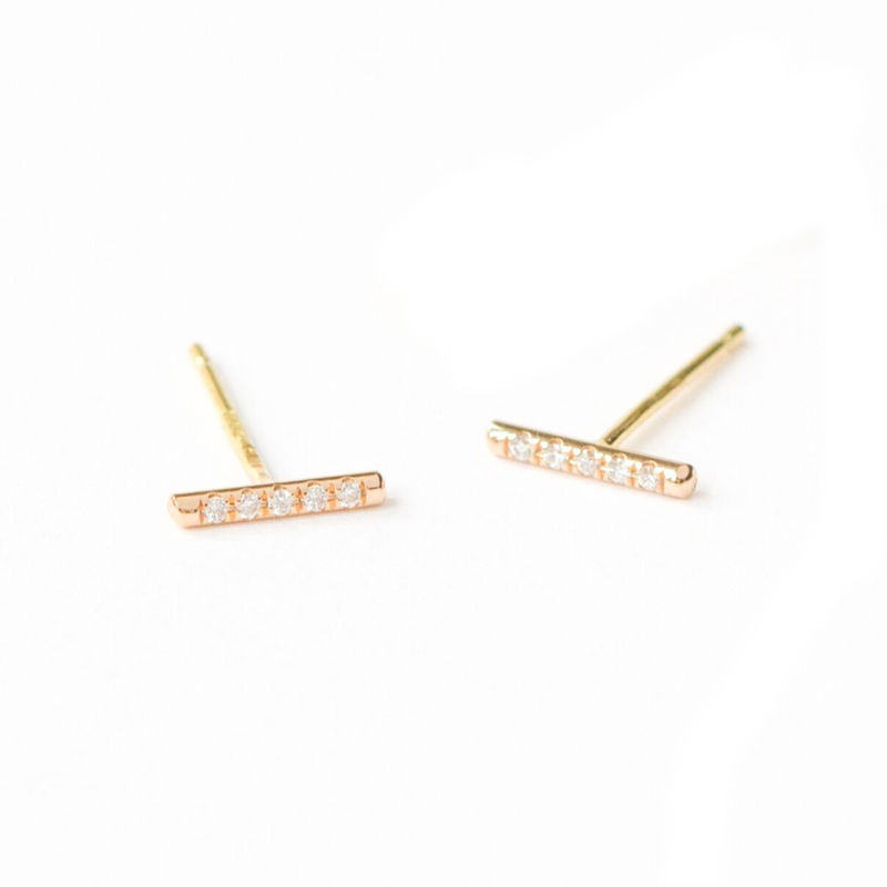 18ct yellow gold earrings with diamonds by LaParra Jewels - product images  of