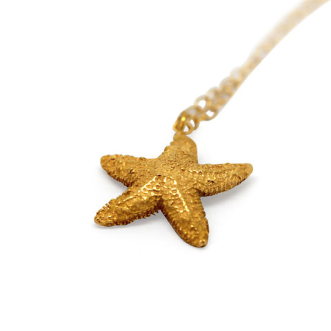 Starfish,necklace,gold,large,by,KristinM,starfish necklace gold