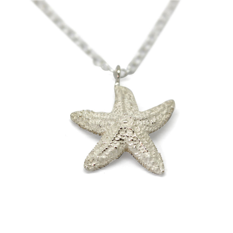 Starfish necklace silver large by KristinM - product images