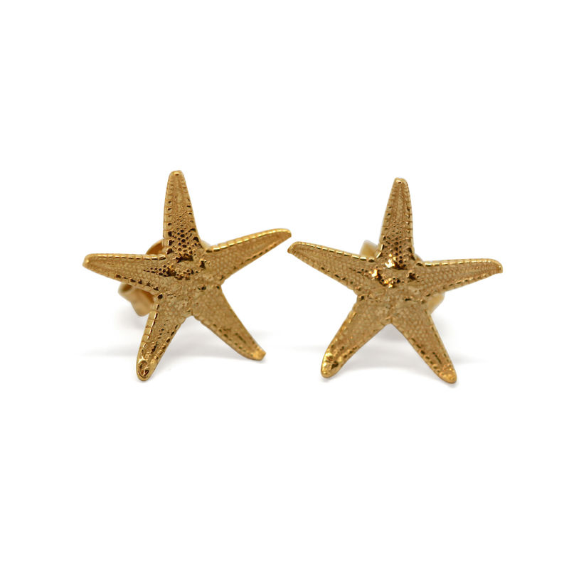Starfish studs gold by KristinM - product images