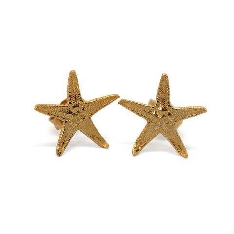 Starfish,studs,gold,by,KristinM
