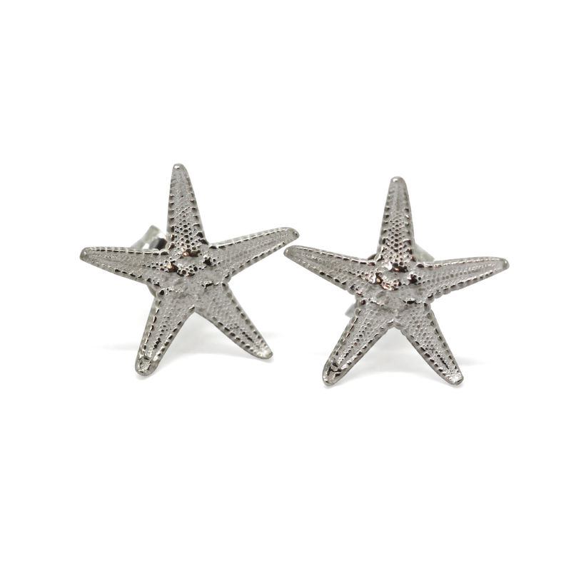 Starfish studs silver by KristinM - product images