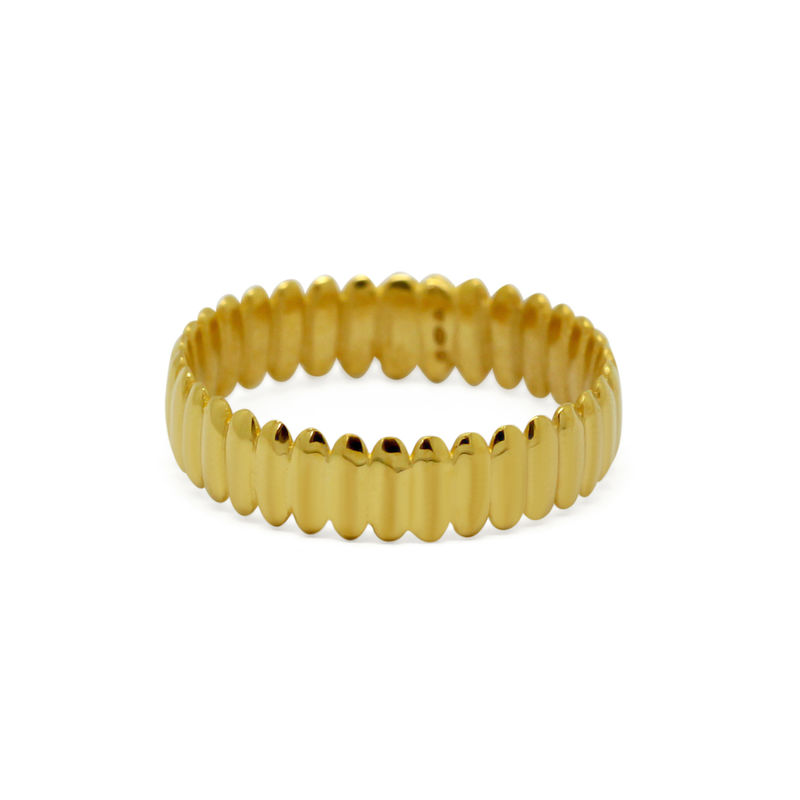 Surf ring narrow yellow gold by KristinM - product images