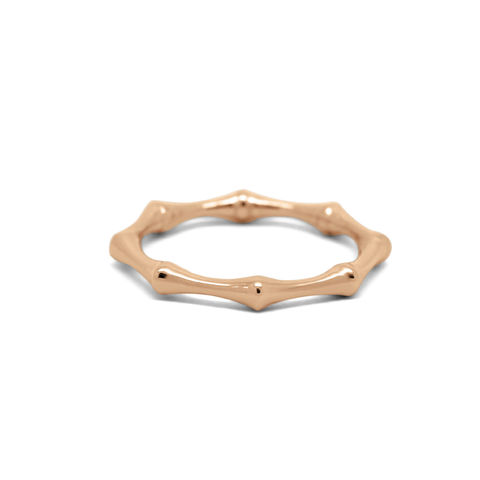 Bamboo,ring,rose,gold,by,KristinM,stacking rose gold ring, bamboo rose gold stacking ring