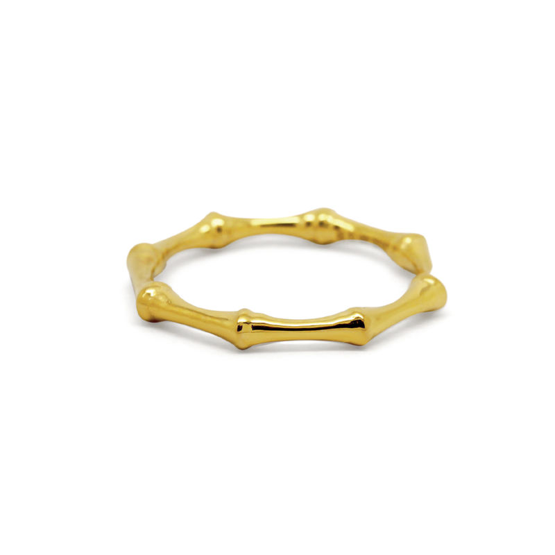 Bamboo ring yellow gold by KristinM - product images