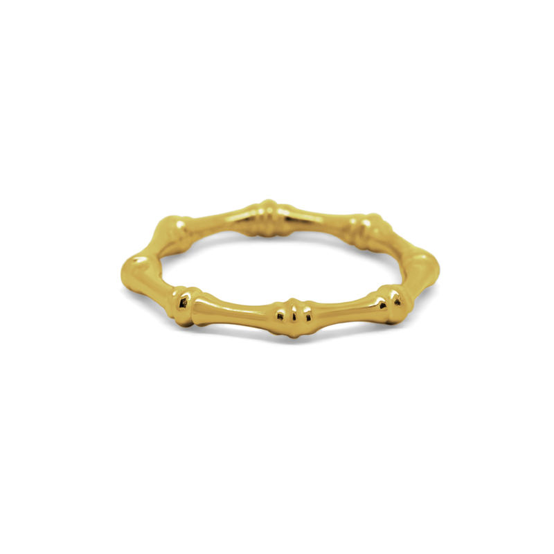 Bamboo ring embellished yellow gold by KristinM - product images