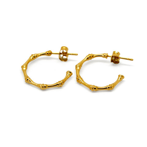 Bamboo,earrings,embellished,yellow,gold,by,KristinM,bamboo hoop earrings gold