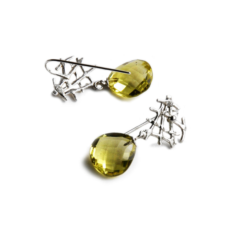 Free Spirit earrings with lemon quartz by Katerina Damilos - product images  of