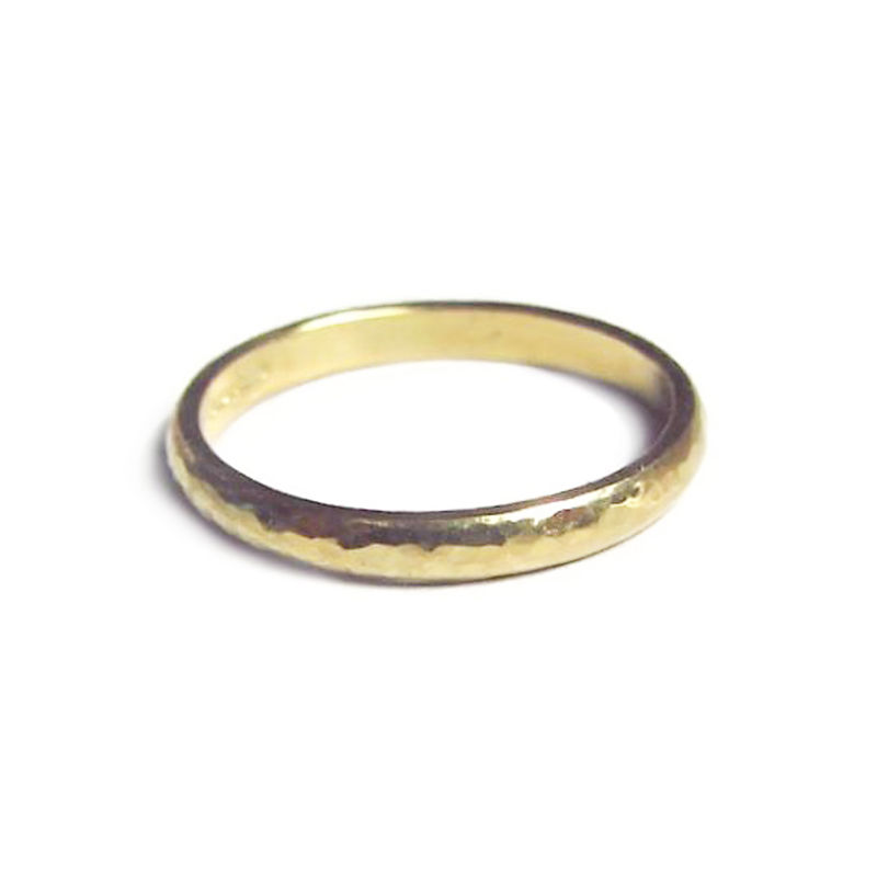 Hammered wedding ring in 18ct gold by Catherine Marche - product images  of