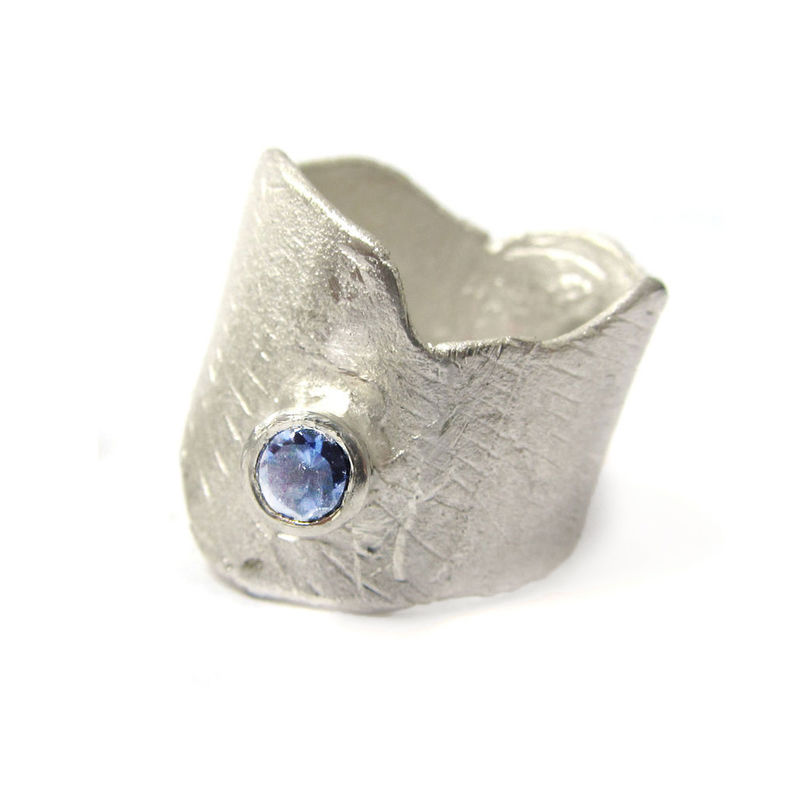 Blue Iolite Cocktail Ring in Sterling Silver by Catherine Marche - product images  of