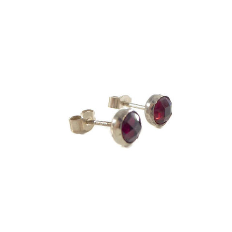 Rose,cut,Garnet,Stud,earrings,in,sterling,silver,by,Catherine,Marche,garnet earrings, stud earrings, catherine marche jewellery,rose cut gemstones, silver studs , red gemstones, sterling silver 925