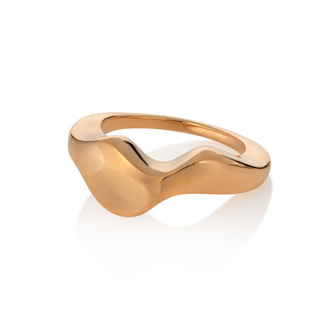 Flow,ring,gold,by,Juliet,Strong,Juliet Strong, pebble ring silver