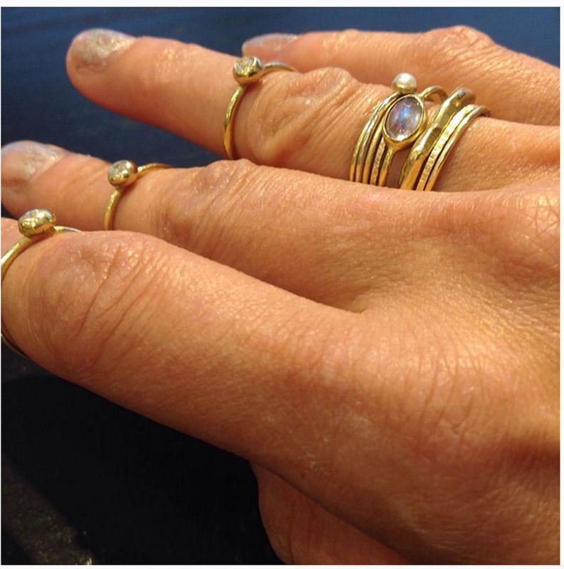 18ct gold set mini stacking rings by Catherine Marche - product images  of