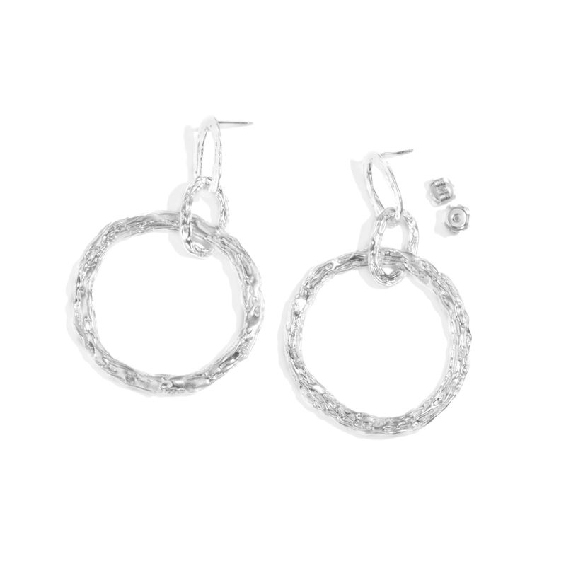 Large hoop earrings silver by LaParra Jewels - product images  of