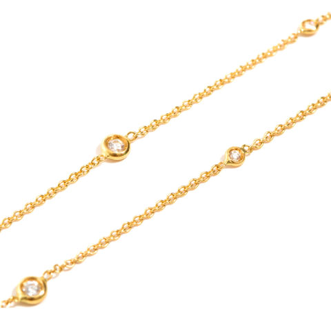 Long,gold,chain,necklace,with,diamonds,by,LaParra,Jewels,gold chain necklace with diamonds