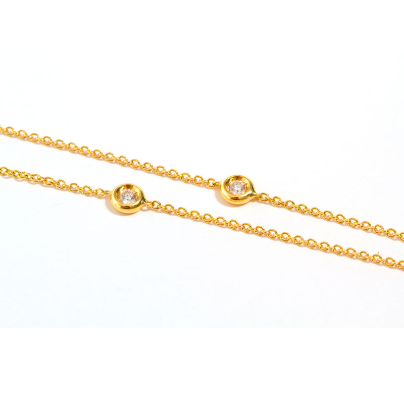 Gold chain necklace with diamonds by LaParra Jewels - product images  of