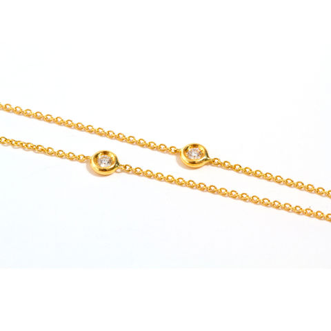 Gold,chain,necklace,with,diamonds,by,LaParra,Jewels,gold chain necklace with diamonds
