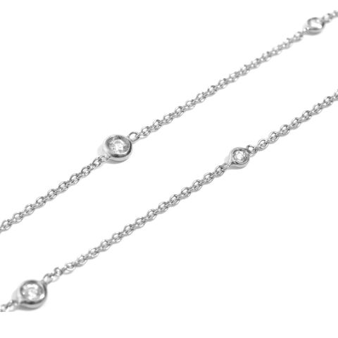 Long,white,gold,chain,necklace,with,diamonds,by,LaParra,Jewels,white gold chain necklace with diamonds