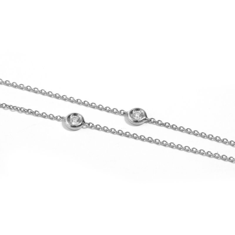 White gold chain necklace with diamonds by LaParra Jewels - product images  of
