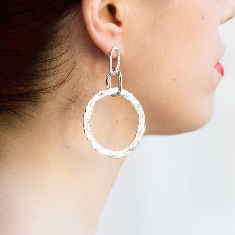 Large hoop earrings rose gold vermeil by LaParra Jewels - product images  of