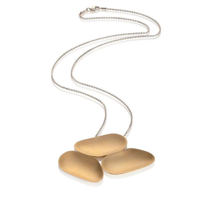 Weathered Shapes 3 piece pendant gold 1 by Juliet Strong - product images