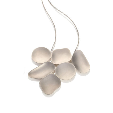 Weathered,Shapes,6,piece,pendant,silver,by,Juliet,Strong,Juliet Strong, geometric silver pendant, pebble pendant silver