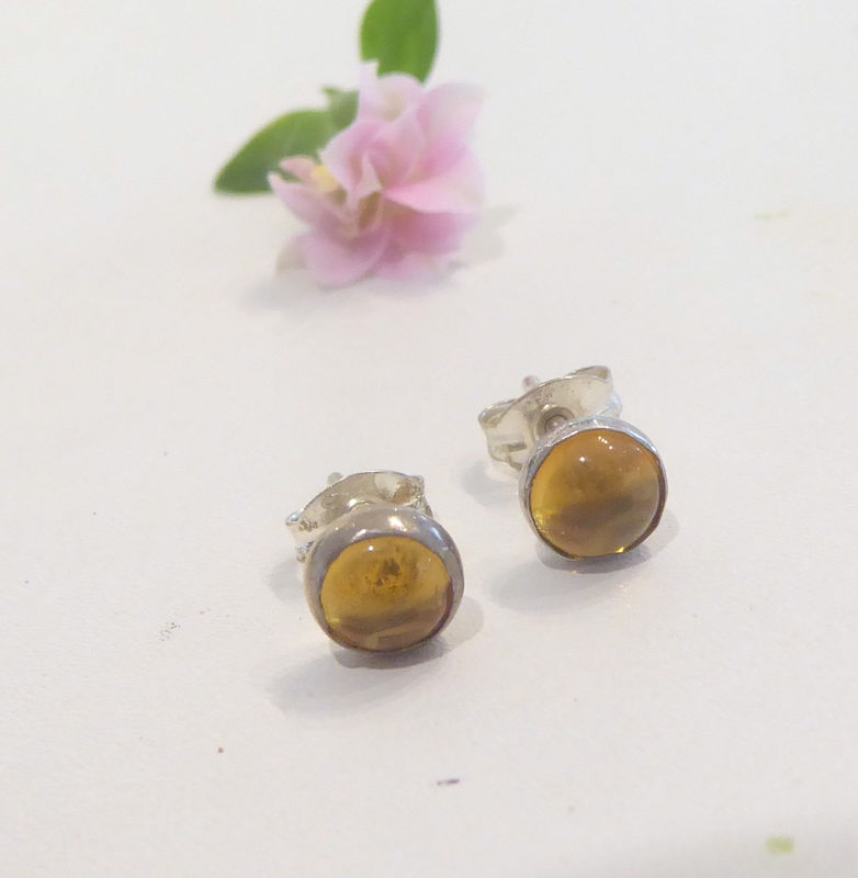 Citrine Studs Earrings by Catherine Marche - product images  of