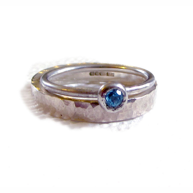Blue Topaz Stacking Ring by Catherine Marche - product images  of