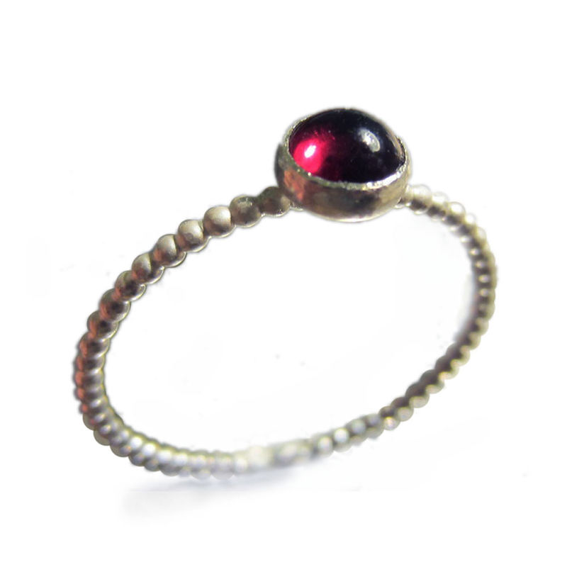 Sterling Silver Garnet Stacking Ring by Catherine Marche - product images  of