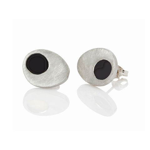 Dot,studs,by,Danny,Ries,silver and black rhodium studs