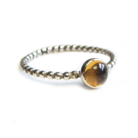 Citrine,Ring,by,Catherine,Marche,citrine jewellery, yellow gemstone, sterling silver stacking ring, minimalist jewellery, catherine marche. jeweller in London