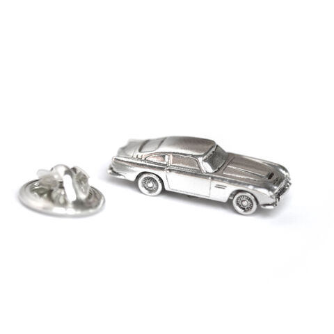 Aston,Martin,car,pin,by,LaParra,Jewels,silver Aston Martin DB5 pin
