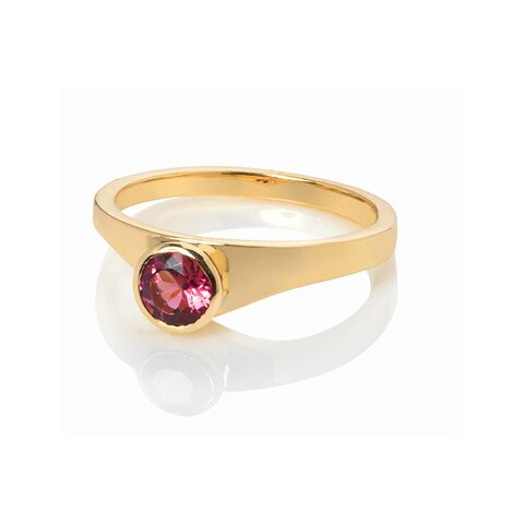 Tutti,Frutti,ring,vermeil,with,garnet,by,Danny,Ries,ring gold and garnet, stackable gold ring with rhodolite garnet