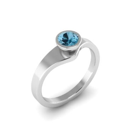 Tutti,Frutti,ring,silver,with,topaz,by,Danny,Ries,ring silver and swiss blue topaz, stackable gold silver with topaz
