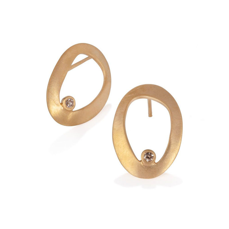 Eternity pod earrings gold by Juliet Strong - product images  of