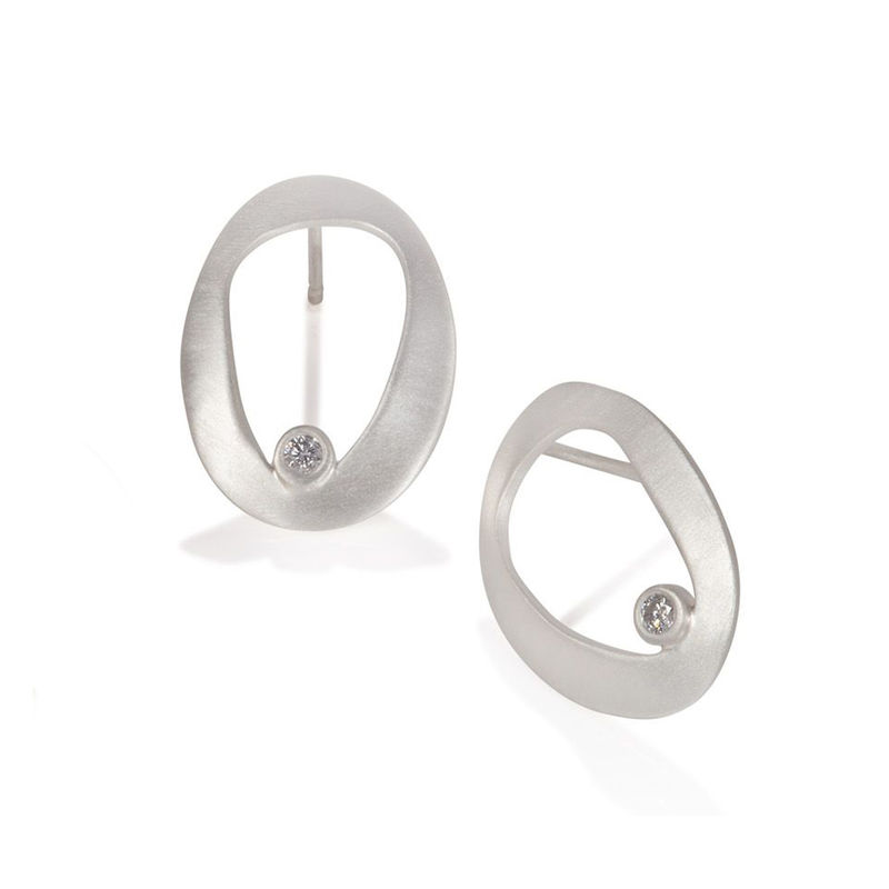 Eternity pod earrings silver by Juliet Strong - product images  of