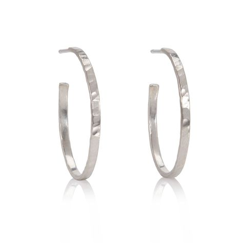 Rhythm,hoop,earrings,by,Juliet,Strong,Juliet Strong, hammered silver hoops