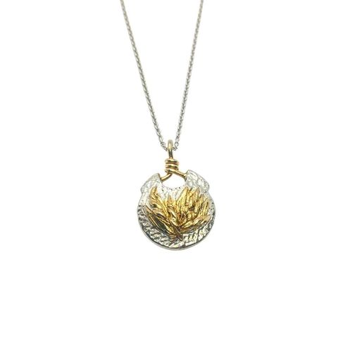 Nature,Medallion,by,Katherine,Brunacci,silver medallion