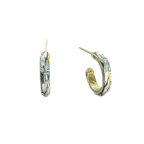 Nature,hoops,by,Katherine,Brunacci,ornate silver hoops