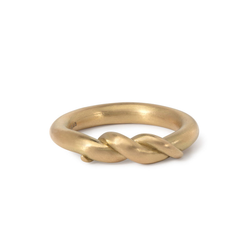 Part Twist ring in 18ct gold by Naomi Tracz - product images