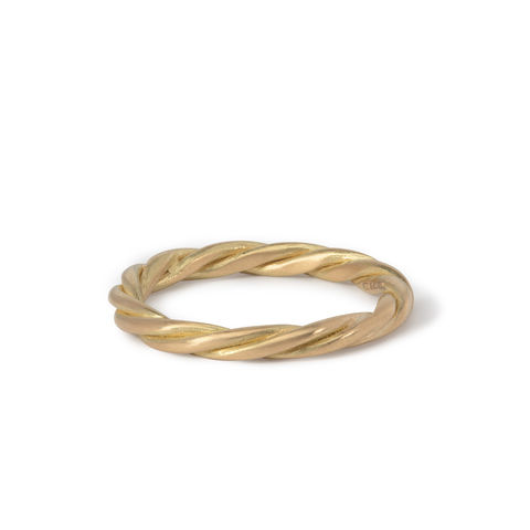 Two-strand,twist,ring,18ct,gold,by,Naomi,Tracz,2 strand twist ring gold