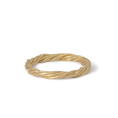 Three-strand,twist,ring,18ct,gold,by,Naomi,Tracz,3 strand twist ring gold