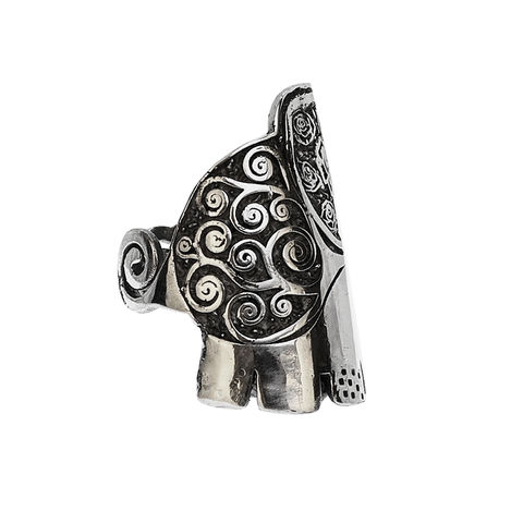 Jolly,Elephant,ring,by,Varr-Dan,silver elephant ring, Varr-Dan, jedeco, symbolic silver pendant, animal jewellery
